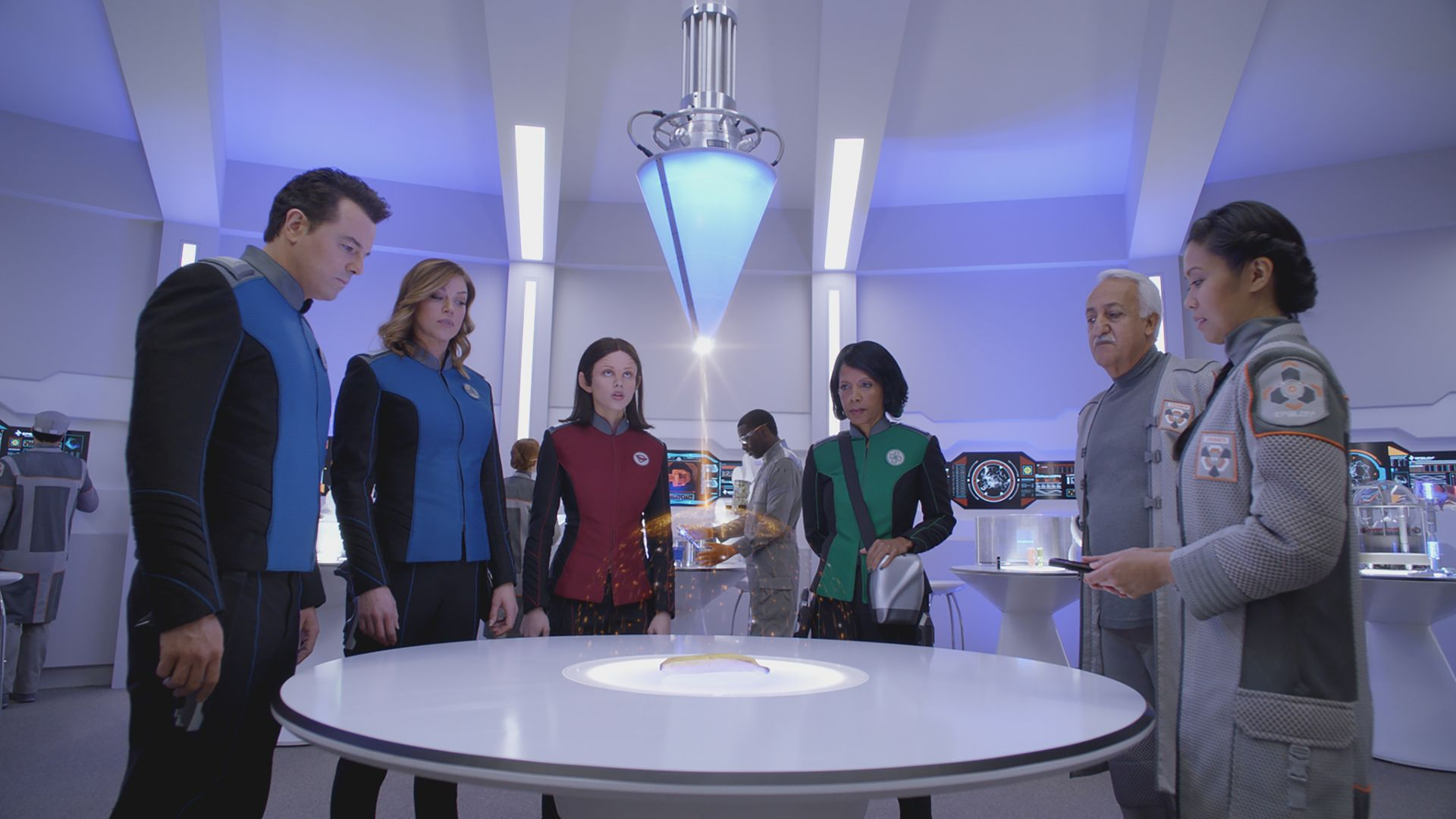 Orville, Пенни Джонсон Джеральд, Сет Макфарлейн, Кристин Корпуз, Хальстон Сейдж, лучшие сериалы, The Orville, Penny Johnson Jerald, Seth MacFarlane, Christine Corpuz, Halston Sage, best tv series (horizontal)