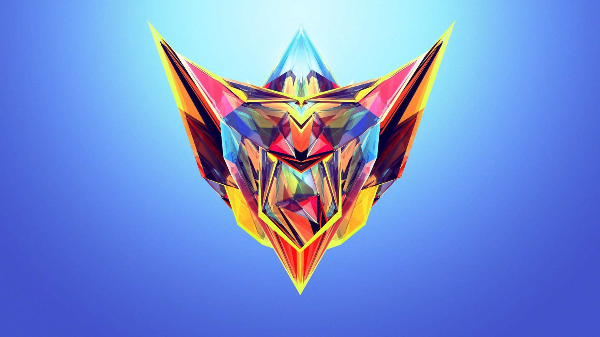 полигоны, HD, abstract, polygon (horizontal)