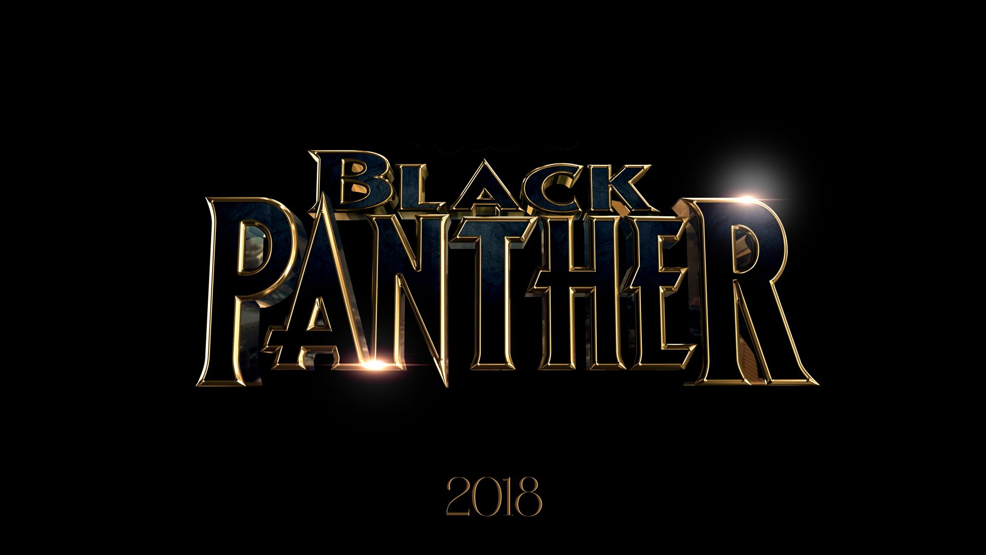 Черная пантера, Black Panther, 4k, 2018, poster (horizontal)