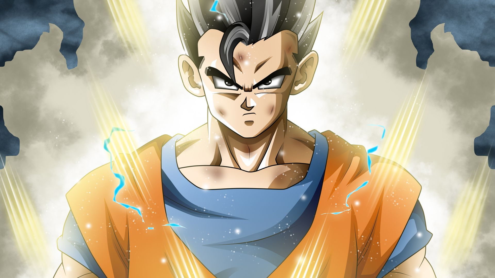 аниме, Драконий жемчуг: Супер, Мистик Гохан, anime, Dragon Ball Super, Mystic Gohan, 5k (horizontal)