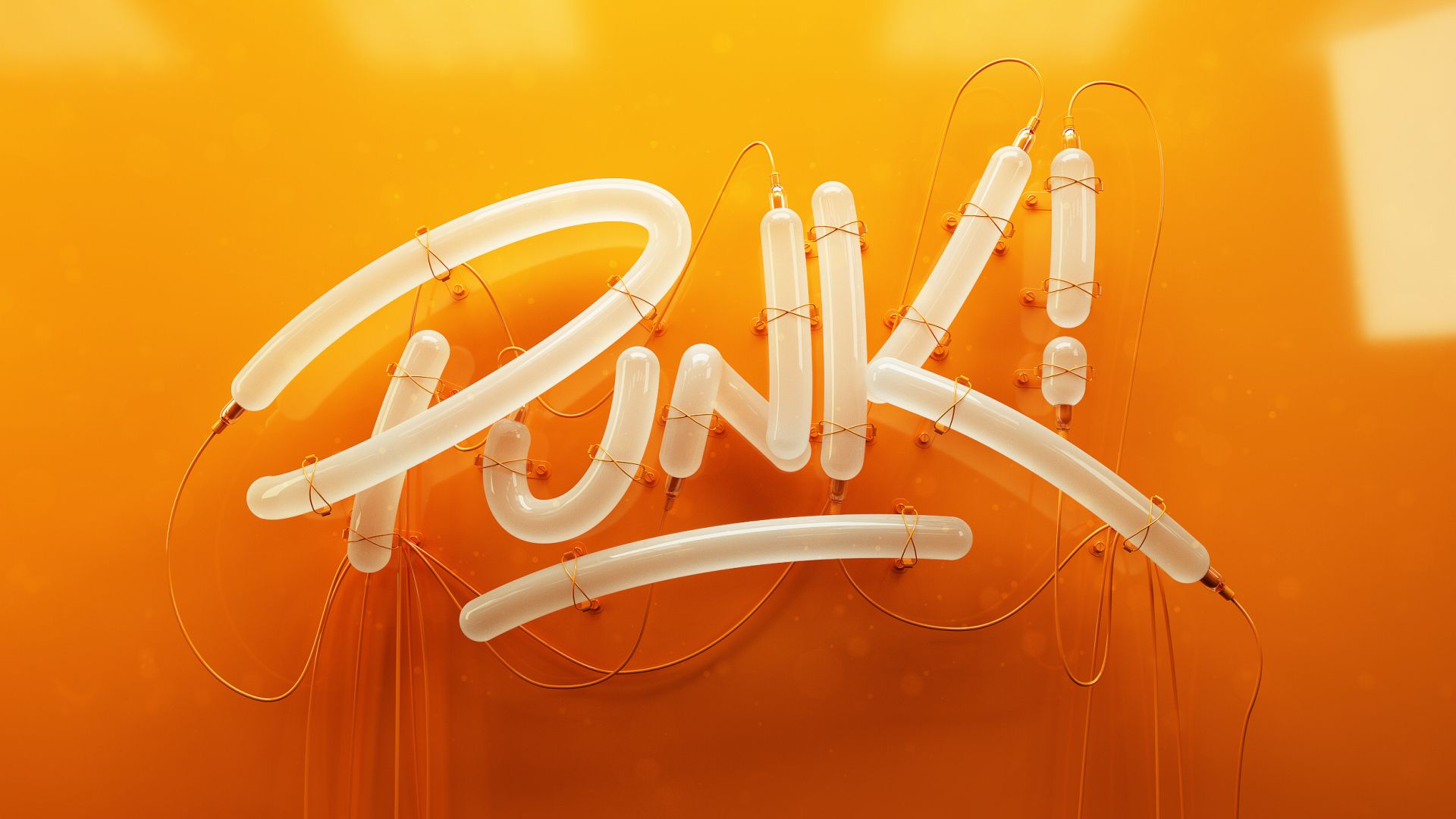 Панк, Punk, 3D letters, Typography, HD (horizontal)