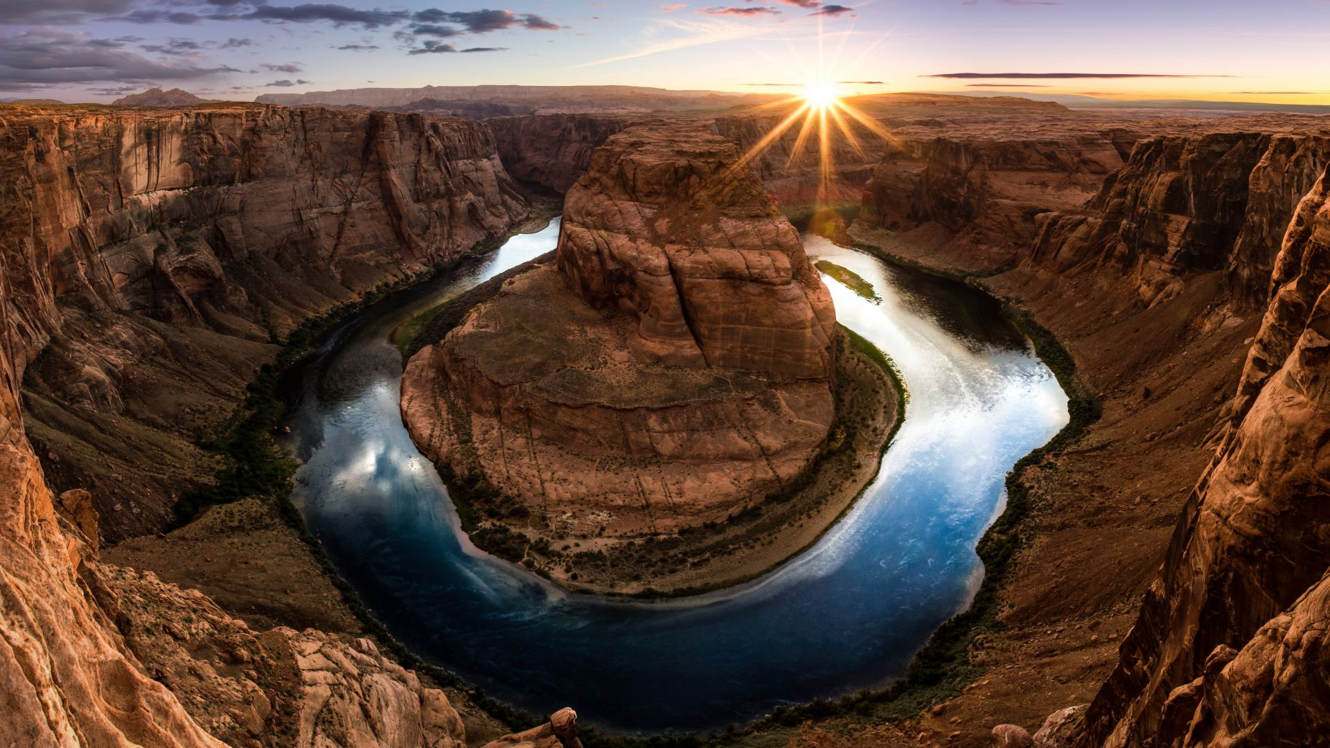 Хорсшу-Бенд, Подкова, США, Horseshoe Bend, Arizona, USA, 8k (horizontal)