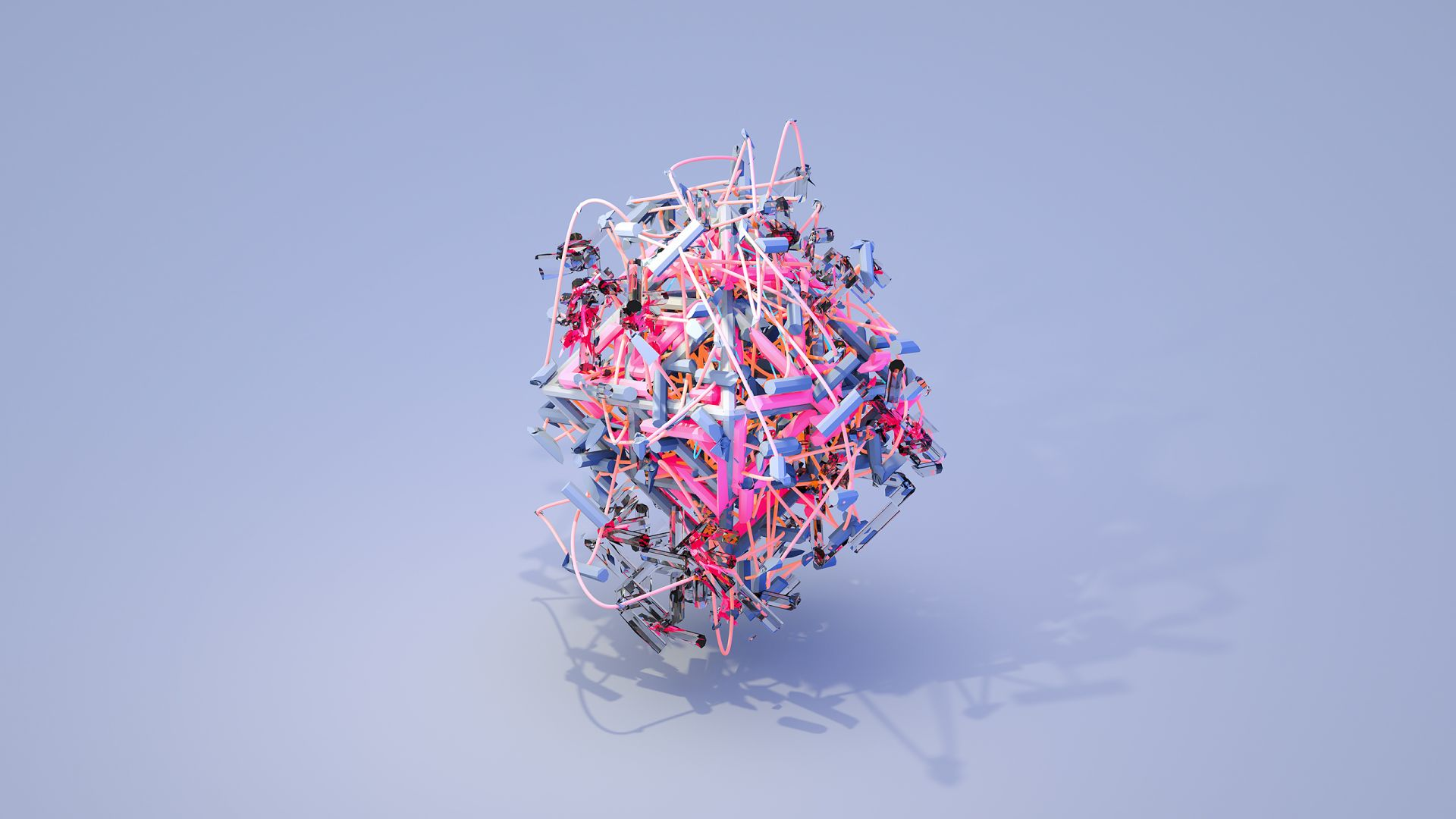 объекты, objects, 3D, blue, pink HD (horizontal)