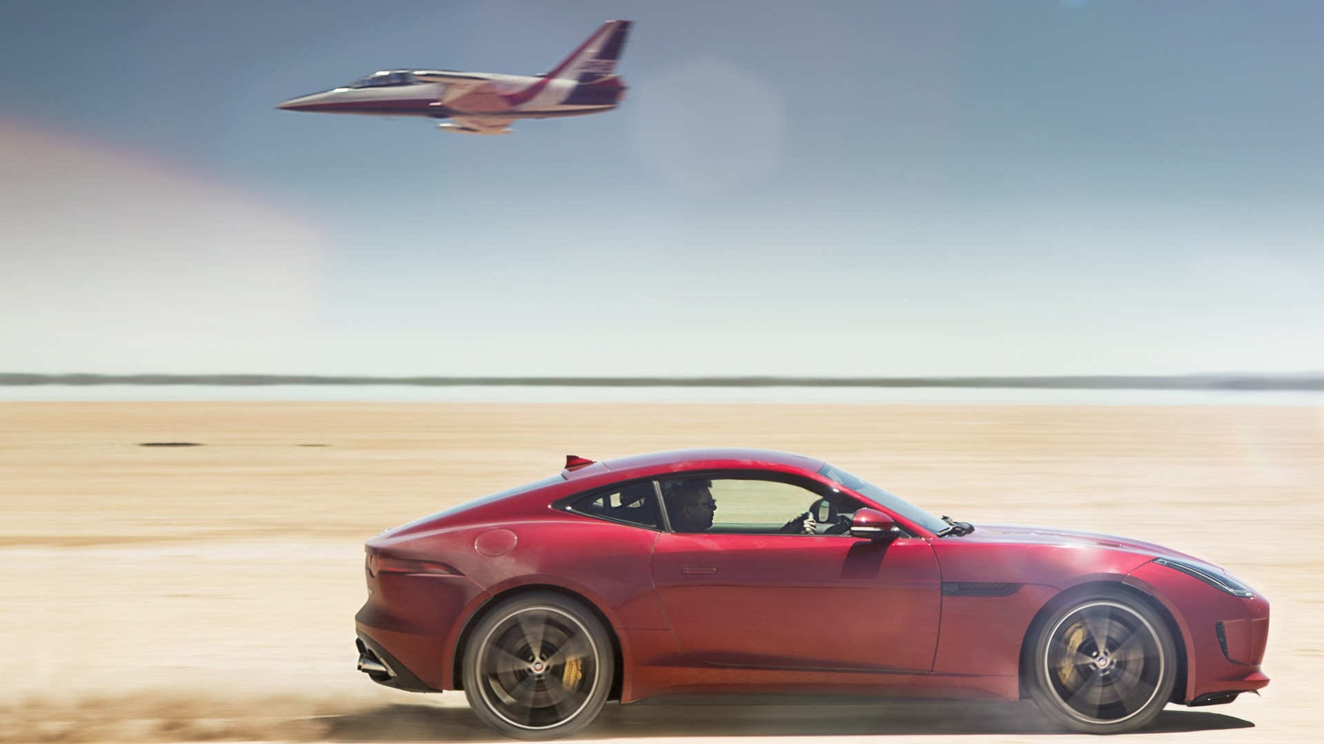 Ягуар Ф-тайп, спорткар, класс-люкс, 2015, Jaguar F-Type, Coupe, Best Cars 2015, sports car, luxury cars, test drive, desert, jet, rent, buy (horizontal)