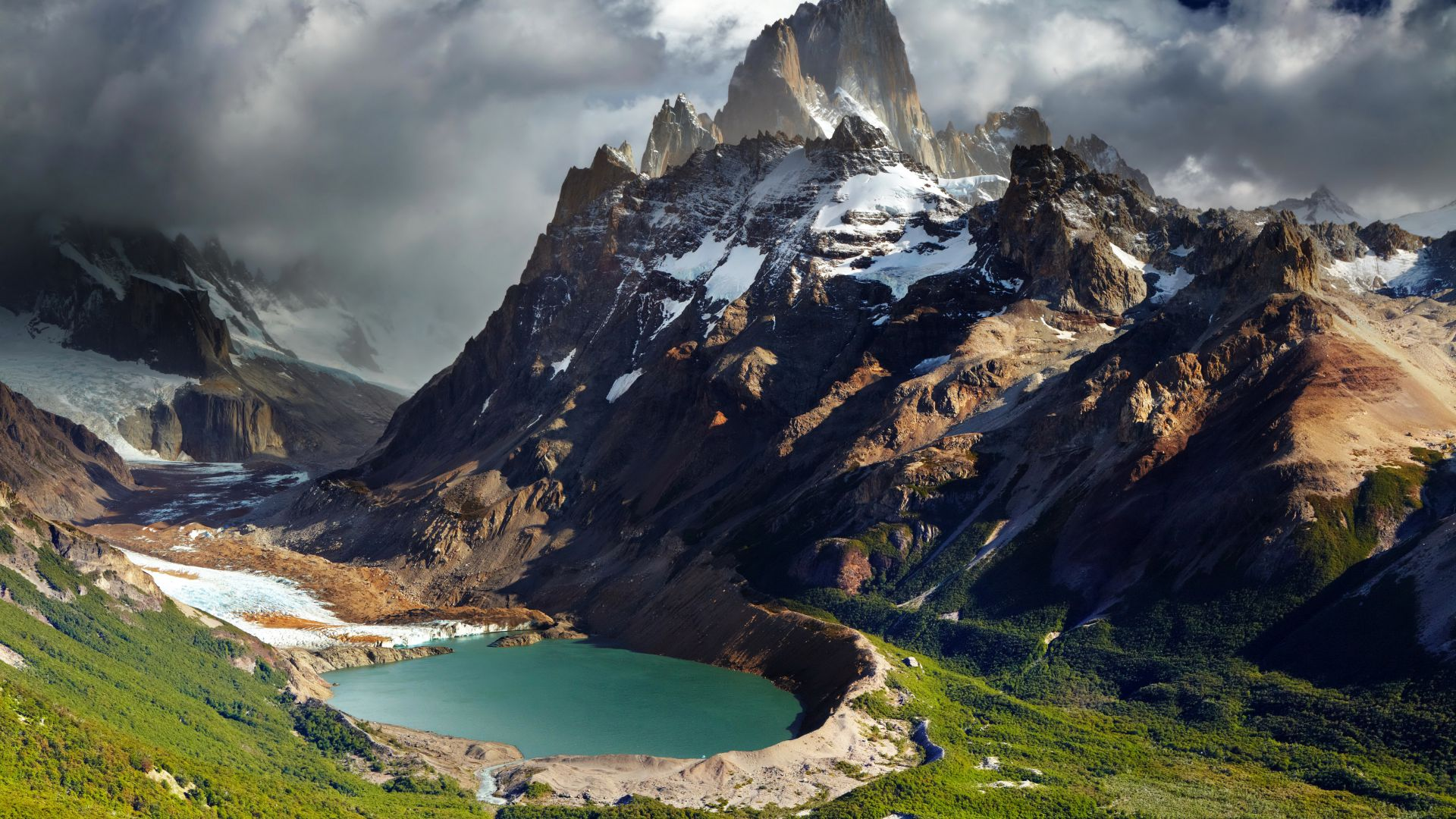 Патагония, Аргентина, горы, озеро, Patagonia, Argentina, mountains, lake