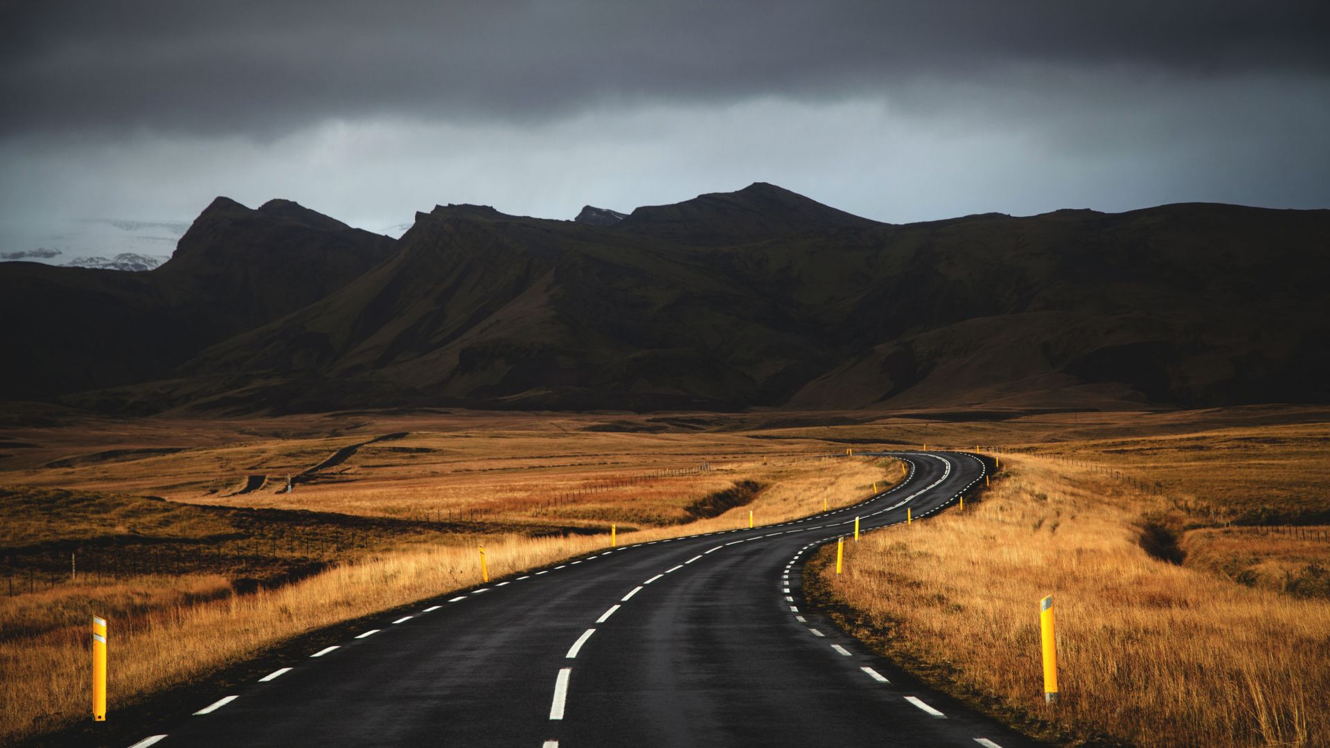Исландия, 4k, 5k, дорога, горы, облака, Iceland, 4k, 5k wallpaper, road, mountains, clouds (horizontal)