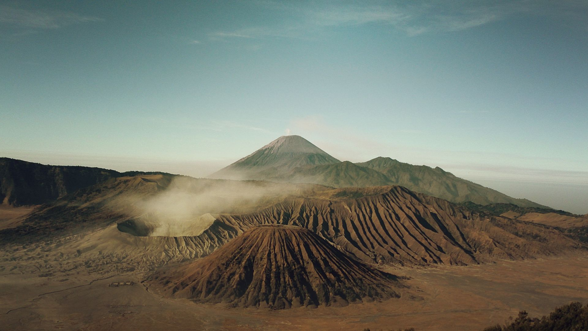 Бром, 4k, 5k, Индонезия, вулкан, песок, Bromo, 4k, 5k wallpaper, Indonesia, volcano, sand (horizontal)