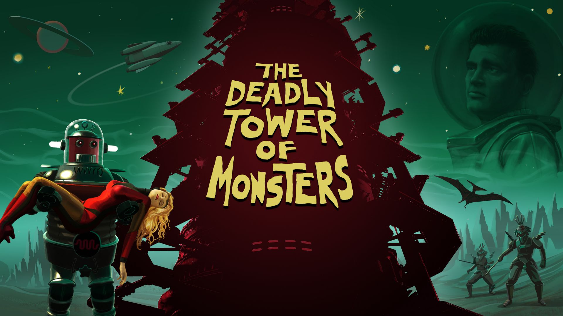 The Deadly Tower of Monsters, Лучшие игры 2015, игра, фантастика, ПК, PS4, The Deadly Tower of Monsters, Best Games 2015, game, sci-fi, PC, PS4 (horizontal)