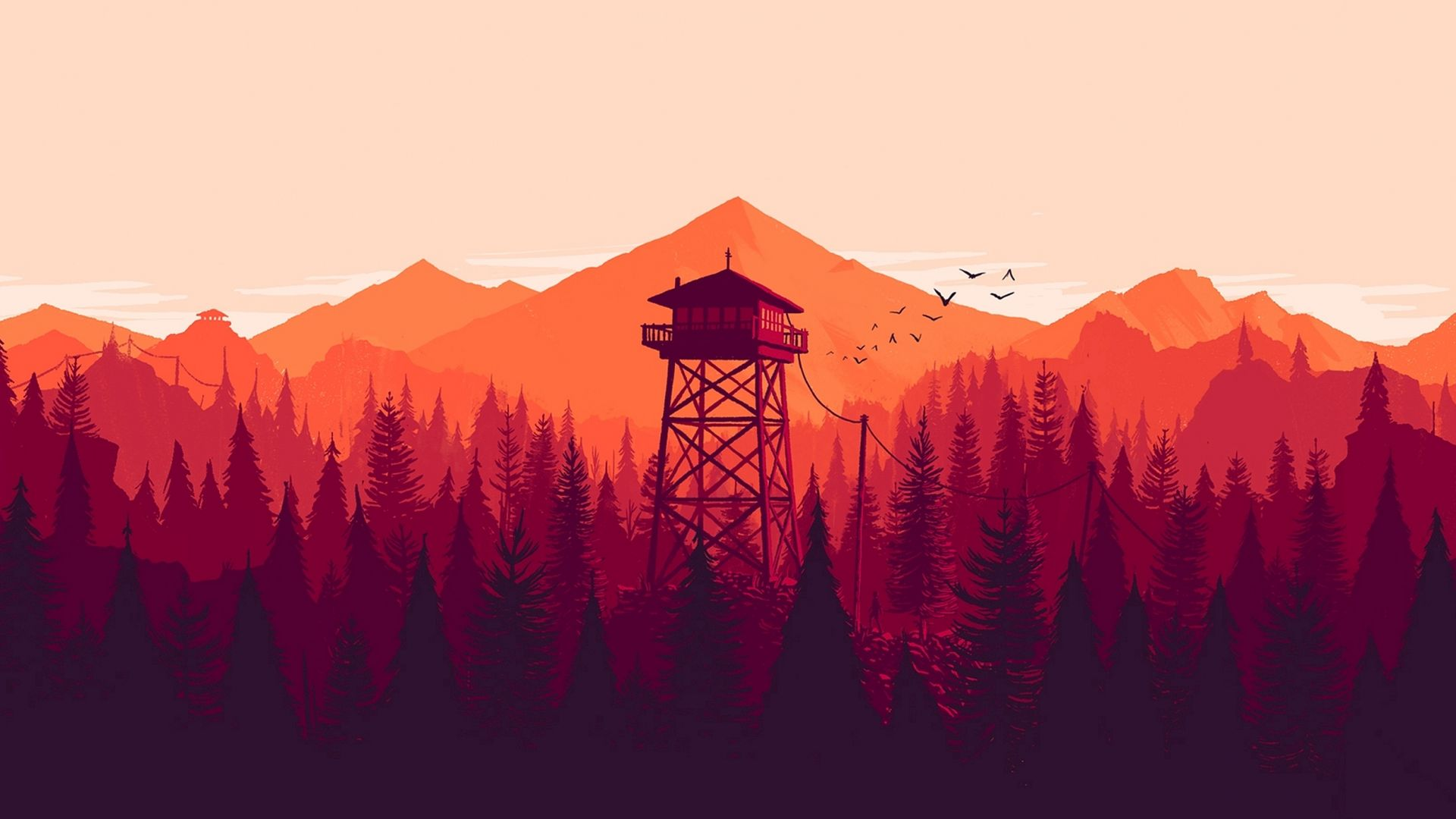 Firewatch, Лучшие игры 2015, игра, квест, хоррор, ПК, Firewatch, Best Games 2015, game, quest, horror, PC (horizontal)