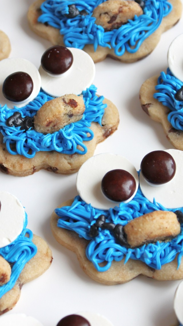 печенье, монстр, глаза, рот, волосы, синий, cookies, monster cookie, eyes, mouth, hair, blue, cooking, recipe (vertical)