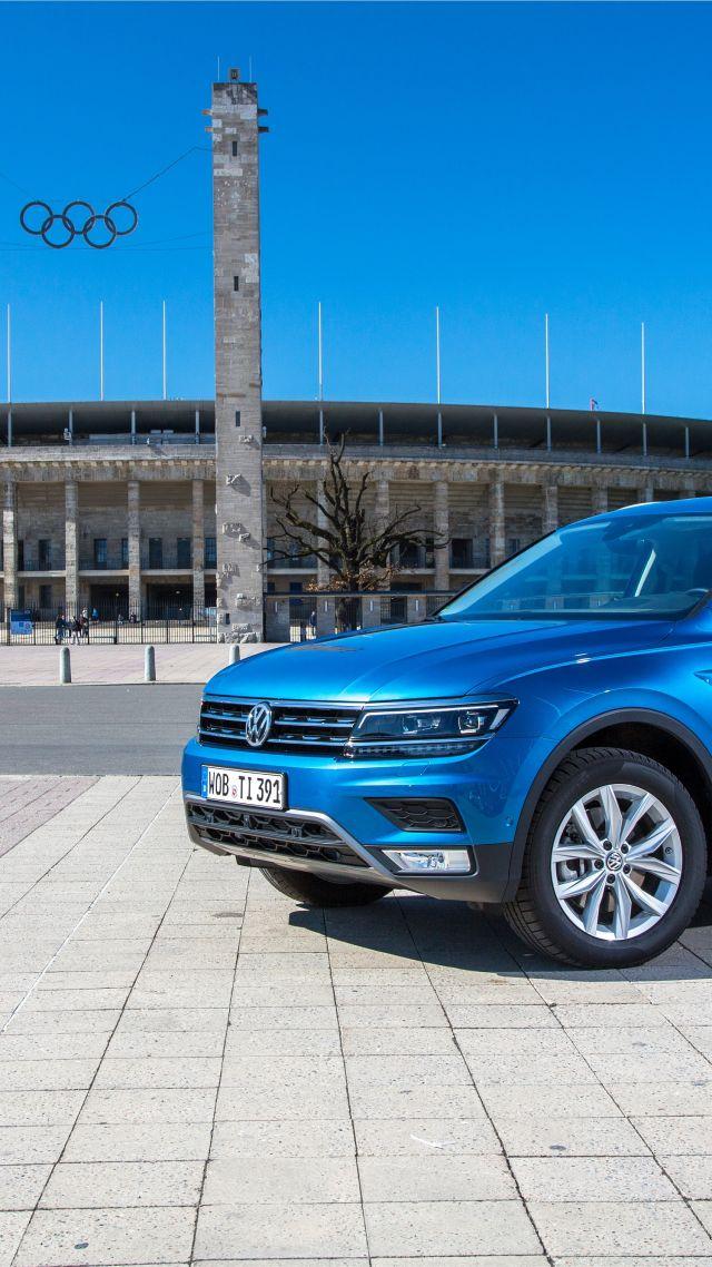 Обои Фольцваген Тигуан, <b>кроссовер</b>, синий, Volkswagen ...