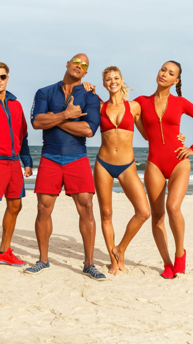 Спасатели Малибу, Зак Эфрон, Приянка Чопра, Дуэйн Джонсон, Baywatch, Dwayne Johnson, Zac Efron, Alexandra Daddario, best movies (vertical)