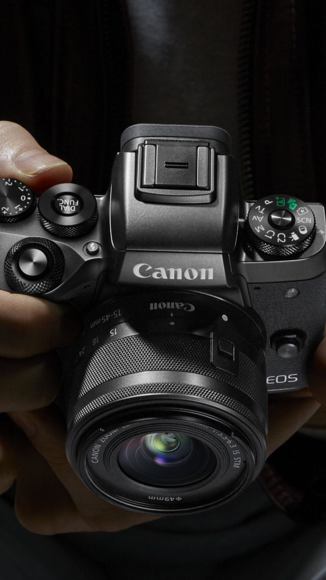 кэнон EOS M5, Photokina 2016, 4k, кэнон, обзор, Canon EOS M5, Photokina 2016, 4k, review, Canon zoom, reflex (vertical)