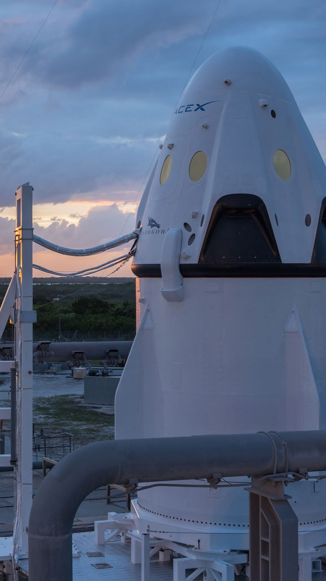 красный дракон, марс, SpaceX, ship, red dragon, mars (vertical)