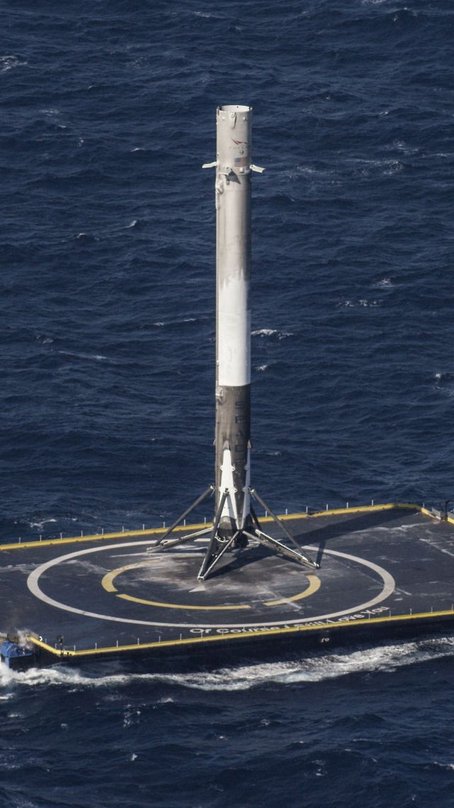 платформа, ракета, SpaceX, ship, sea, platform, rocket (vertical)
