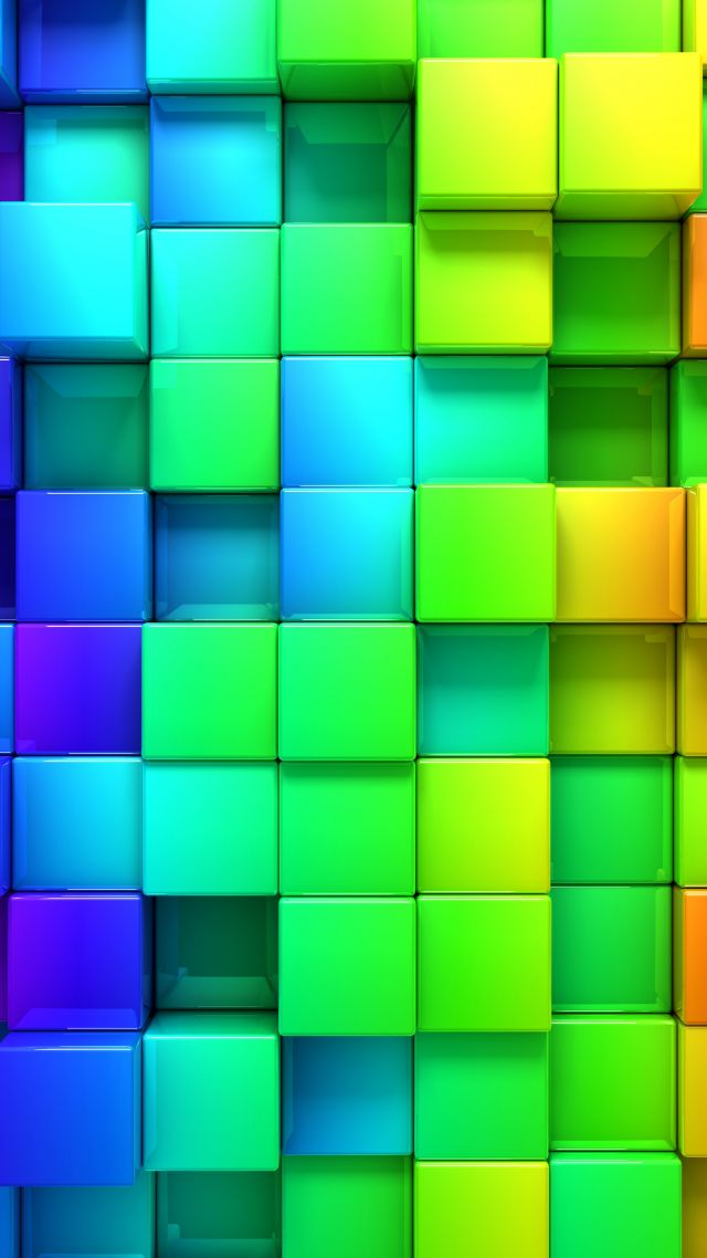 абстракт, квадраты, 4k, 5k, iPhone обои, андроид обои, cube, blocks, 4k, 5k, 3d, iphone wallpaper, android wallpaper, rainbow, abstract
