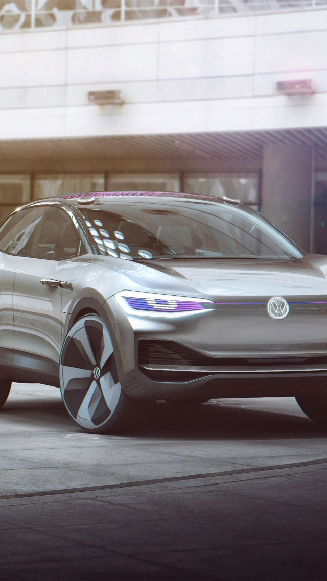 Volkswagen I.D. Crozz, HD, электрокар, Шанхайский Автосалон 2017, концепт, Volkswagen I.D. HD wallpaper, Crozz, electric car, Shanghai Auto Show 2017, concept (vertical)