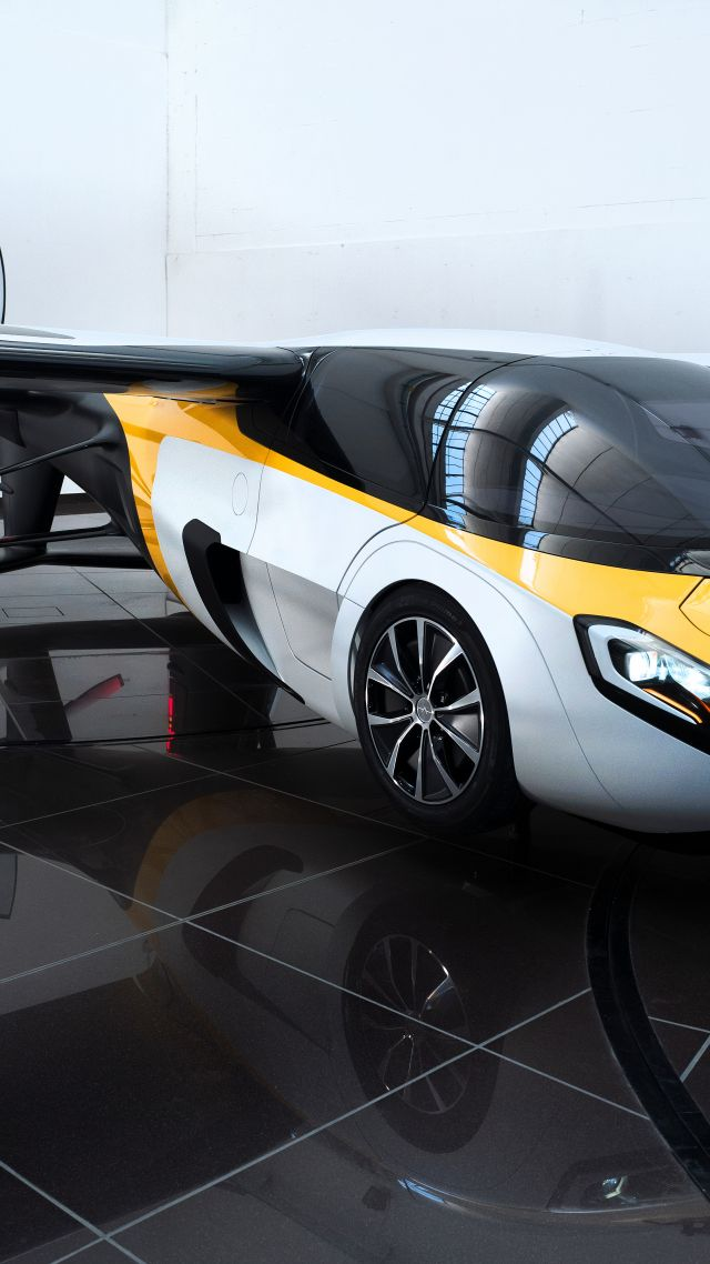аэромобиль, концепт, тест драйв, AeroMobil 3.0, concept, aircraft, flying car, runway, front, test drive (vertical)