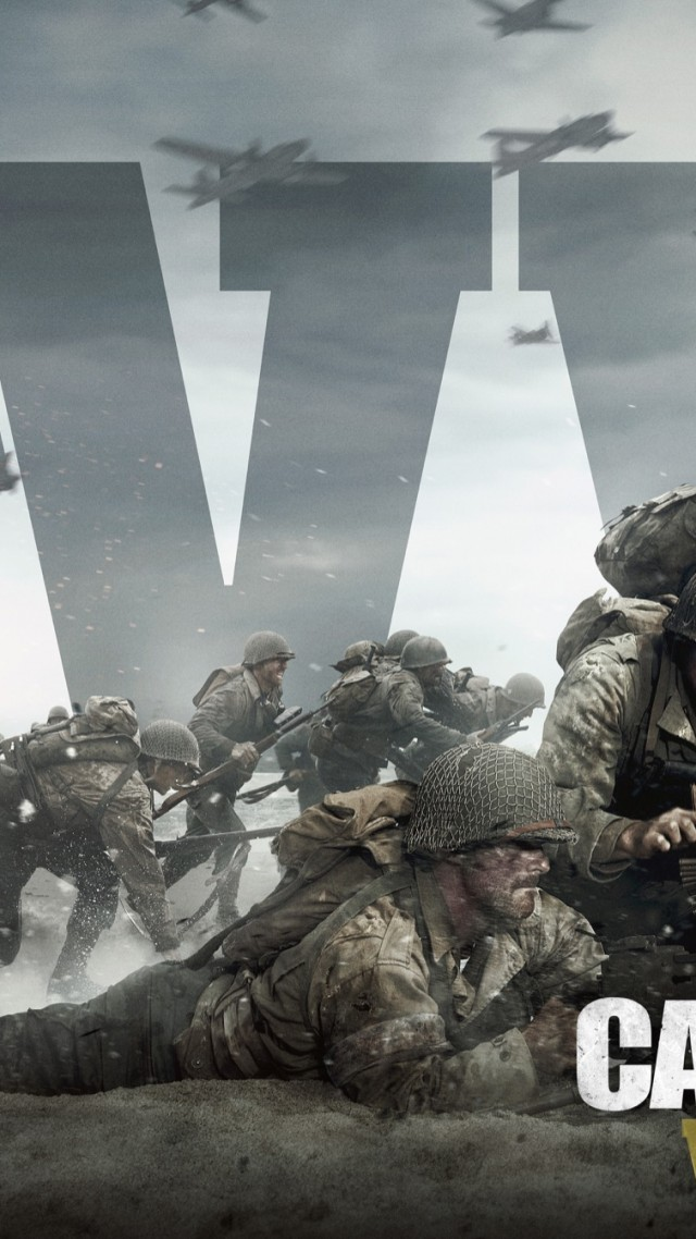 Кол оф дьюти ВВ2, Call of Duty: WW2, 4k, 5k, poster, E3 2017 (vertical)