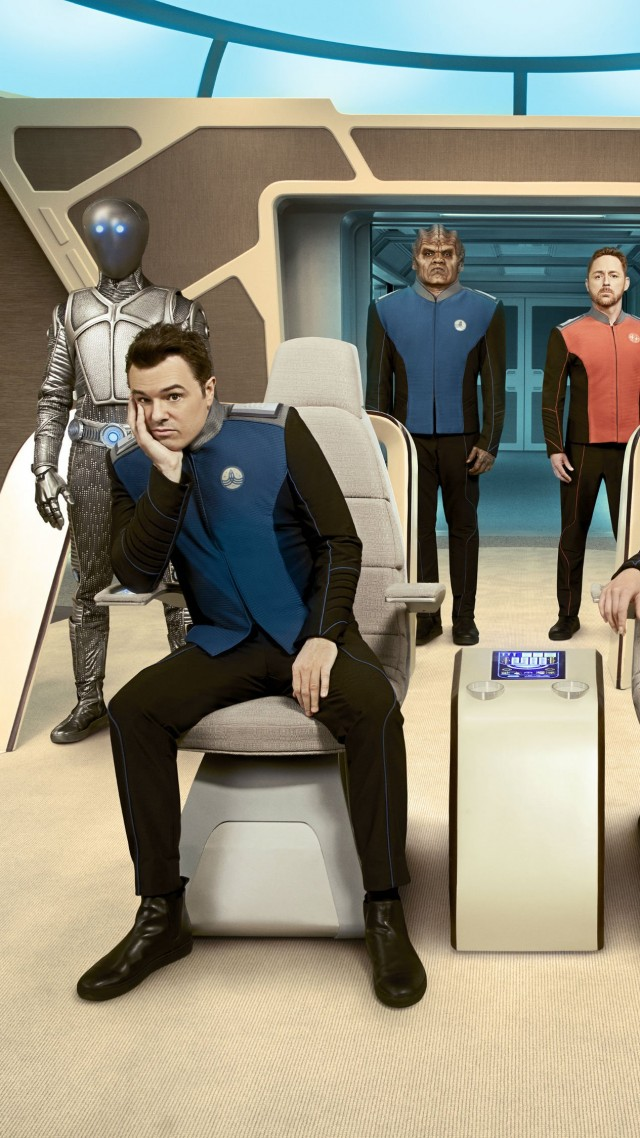 Orville, Пенни Джонсон Джеральд, Сет Макфарлейн, Кристин Корпуз, Хальстон Сейдж, лучшие сериалы, The Orville, Penny Johnson Jerald, Seth MacFarlane, Christine Corpuz, Halston Sage, best tv series (vertical)
