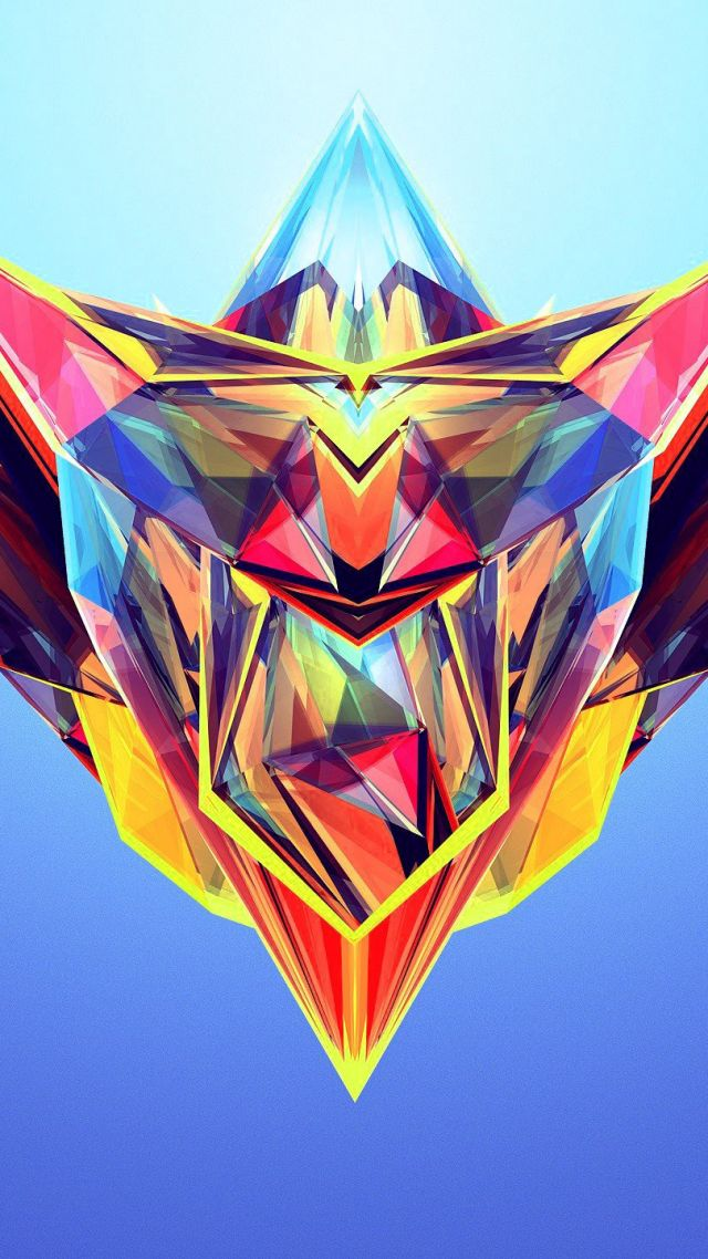 полигоны, HD, abstract, polygon (vertical)
