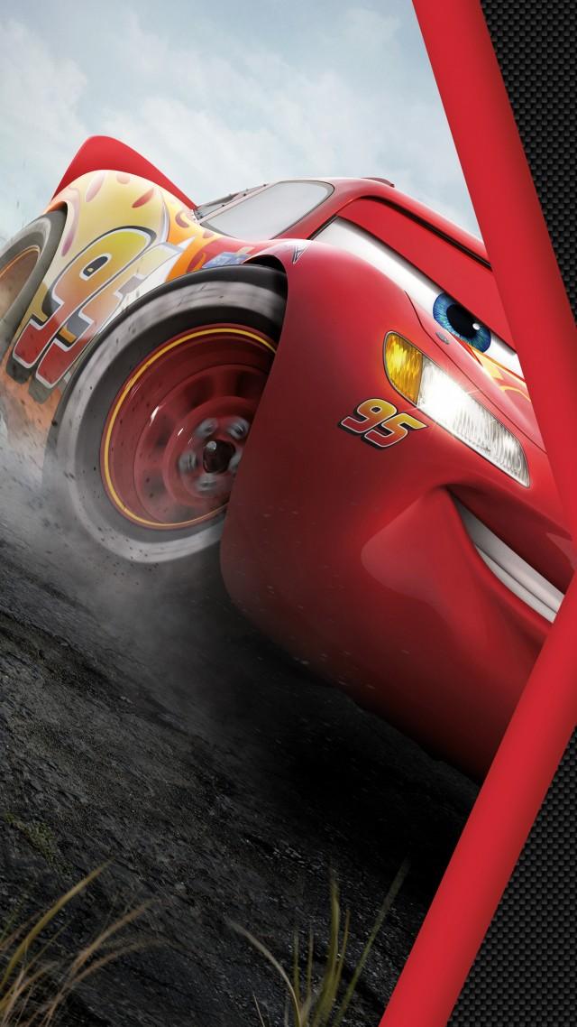 обои тачки 3 Cars 3 4k Lightning Mcqueen Poster фильмы