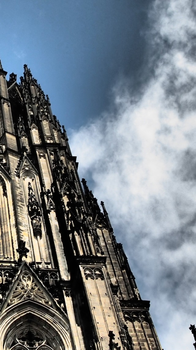 Кельнский собор, Германия, Cologne Cathedral, Germany, Cologne, Europe, sky, 4k (vertical)