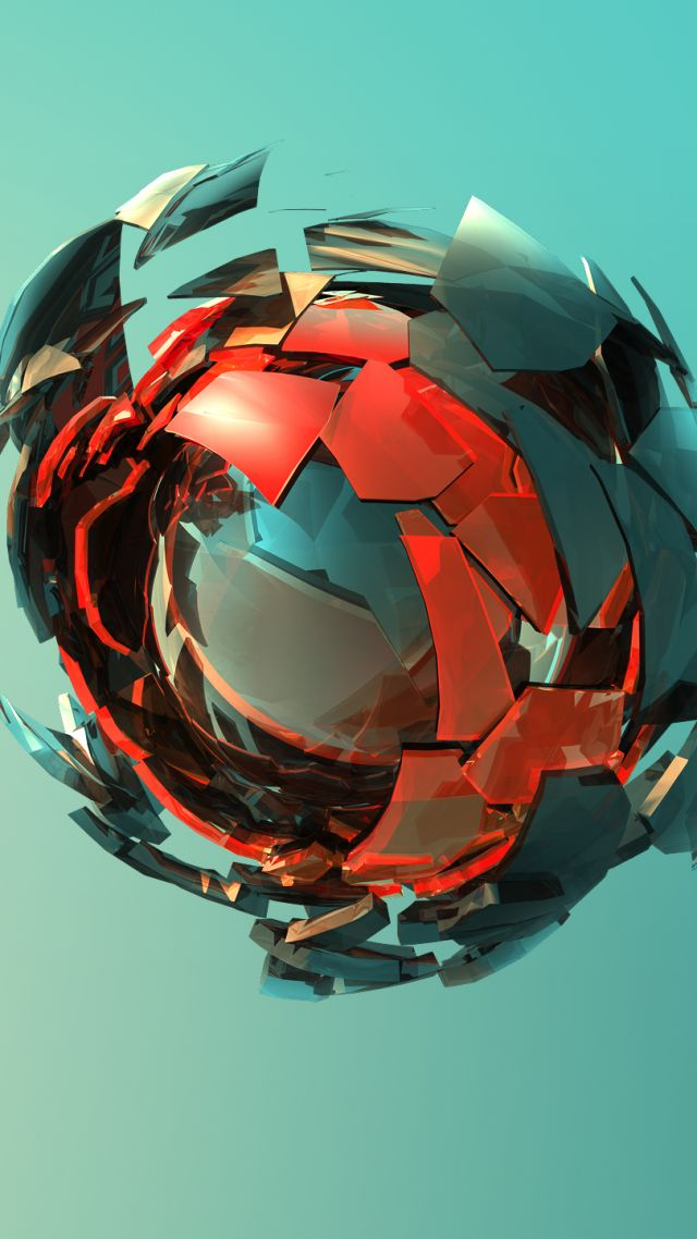 сфера, sphere, 3D, red, green, HD (vertical)