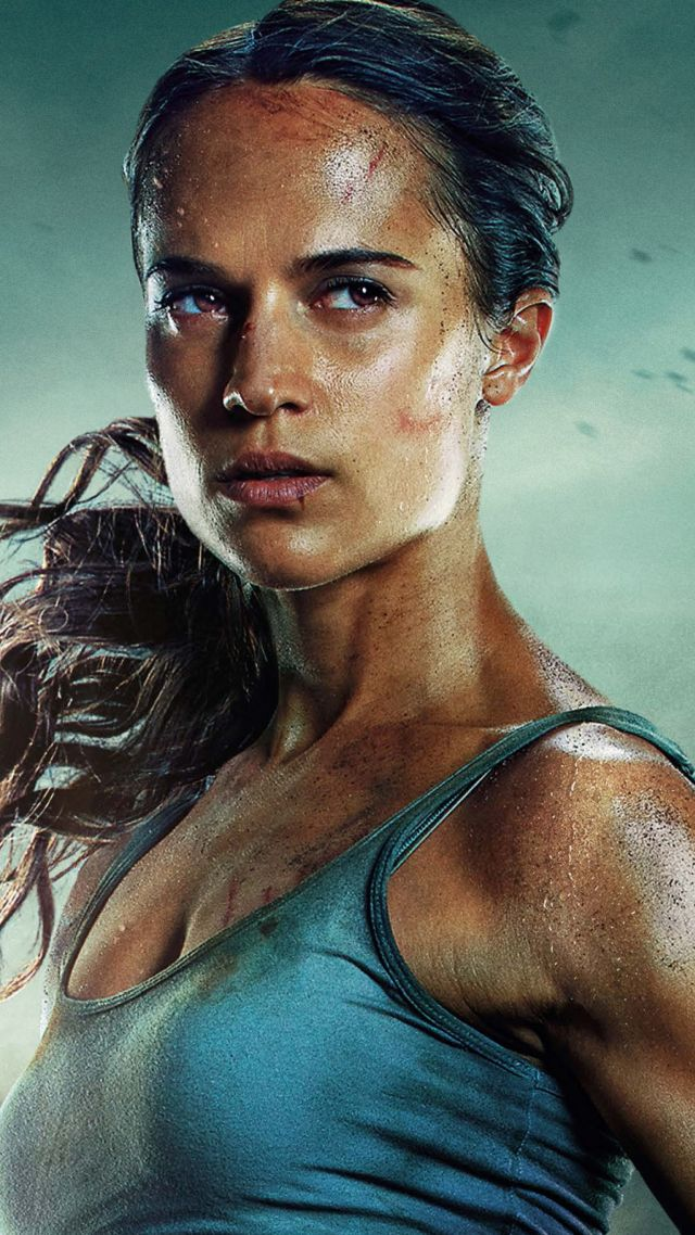 Лара Крофт, Lara Croft, Tomb Raider, Alicia Vikander, 5k (vertical)