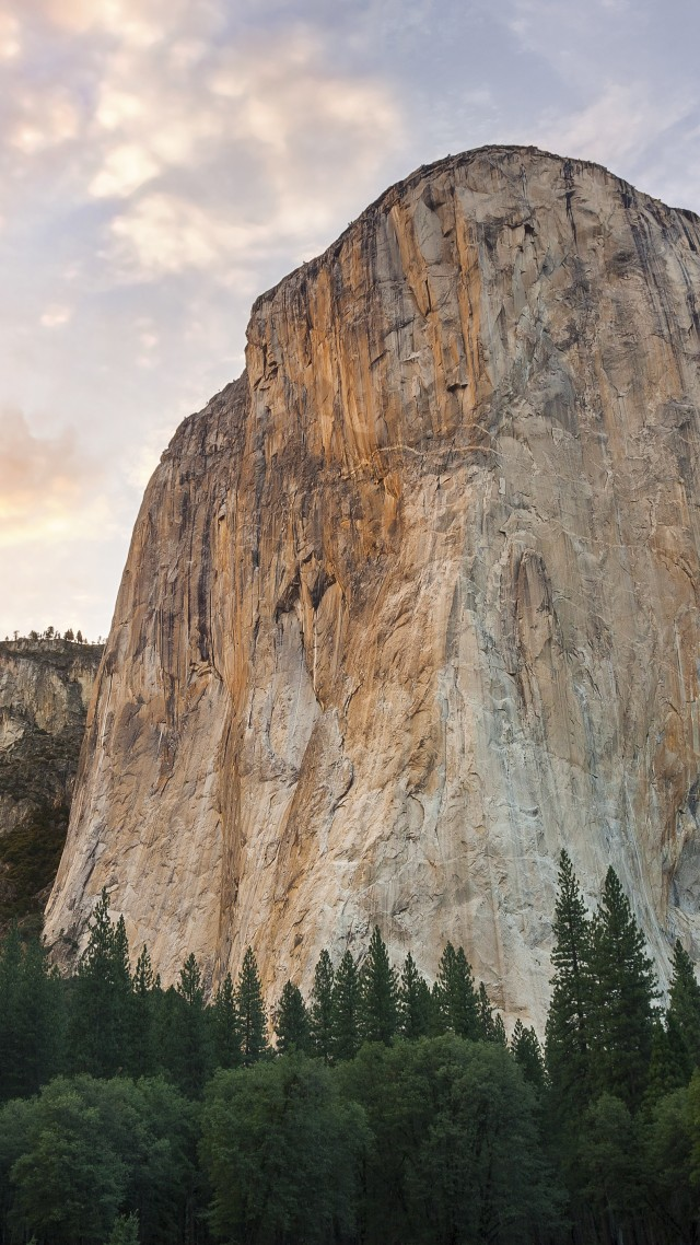 Обои Эпл, 5k, 4k, 8k, горы, закат, El Capitan, 5k, 4k wallpaper, 8k, forest, OSX, apple, mountains, sunset (vertical)