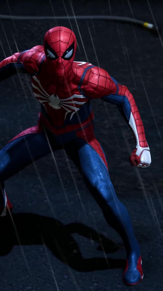 Человек Паук, Marvel's Spider-Man, E3 2018, screenshot, 4K (vertical)
