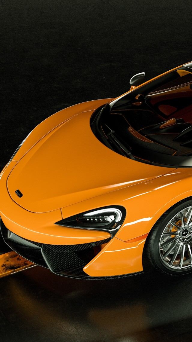McLaren 570S, 2019 Cars, supercar, luxury cars, 4K (vertical)