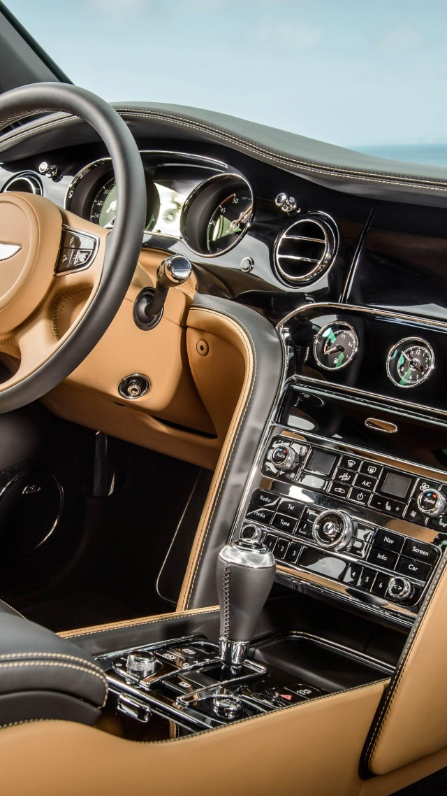Бэнтли, салон, класс-люкс, Bentley Mulsanne, interior, luxury cars, Bentley, Flying B, metallic, leather, 2015 Detroit Auto Show. NAIAS (vertical)