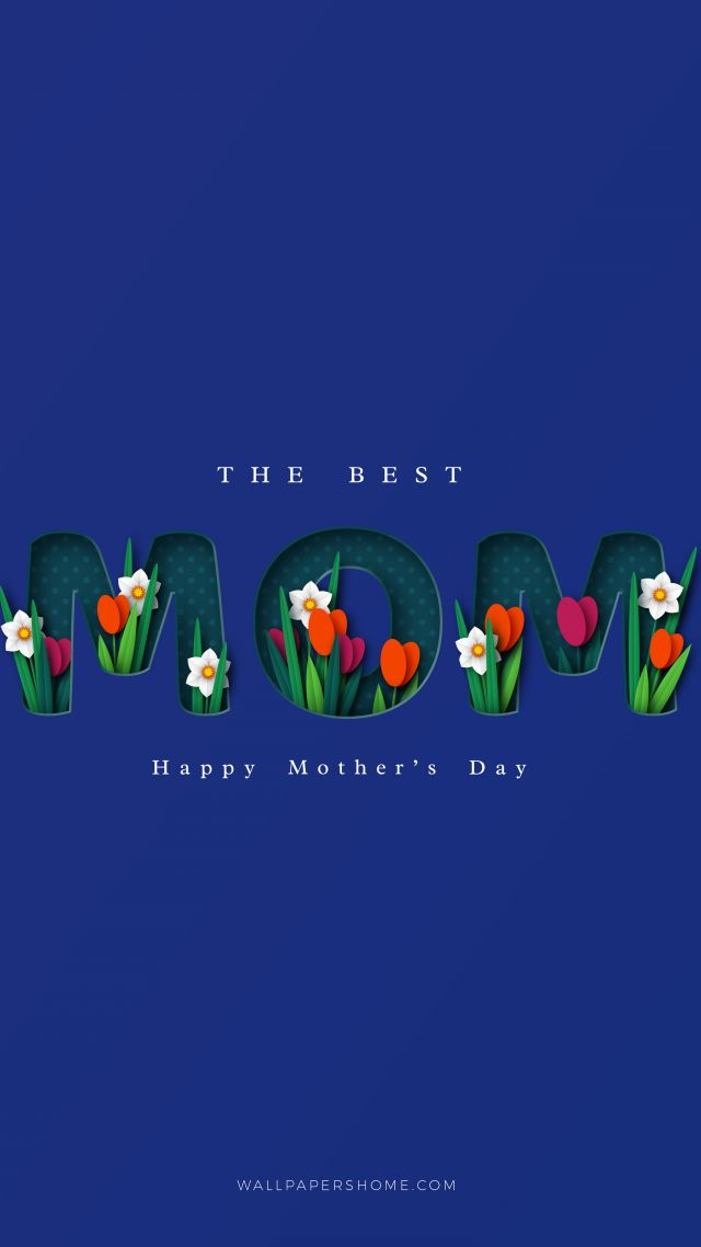 День матери, Happy Mothers Day (vertical)