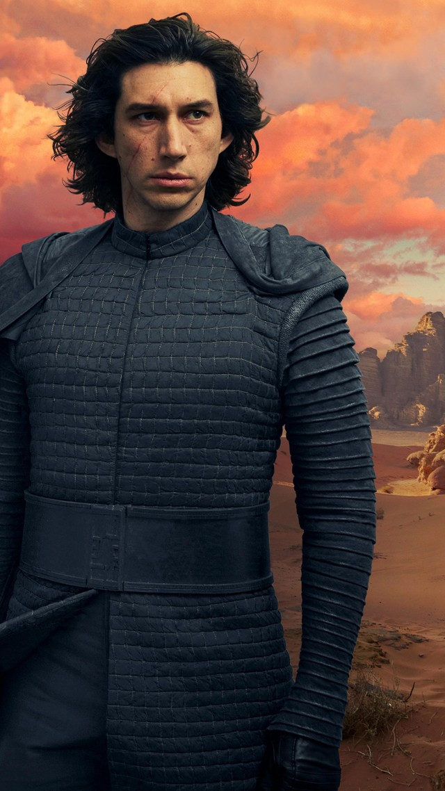 Звёздные войны: Скайуокер. Восход, Star Wars: The Rise of Skywalker, Adam Driver, Daisy Ridley, 5K (vertical)