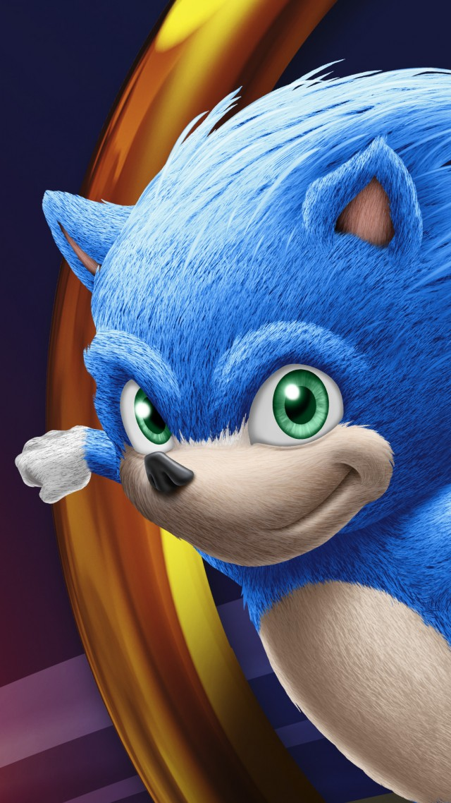 Sonic the Hedgehog, poster, HD, Sonic the Hedgehog, poster, HD (vertical)