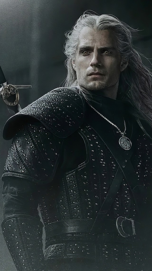 Ведьмак, The Witcher, poster, Henry Cavill, 5K (vertical)