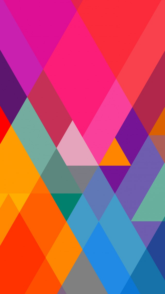 полигон, 4k, 5k, цветной, андроид, фон, polygon, 4k, 5k wallpaper, iphone wallpaper, triangle, background, orange, red, blue, pattern (vertical)