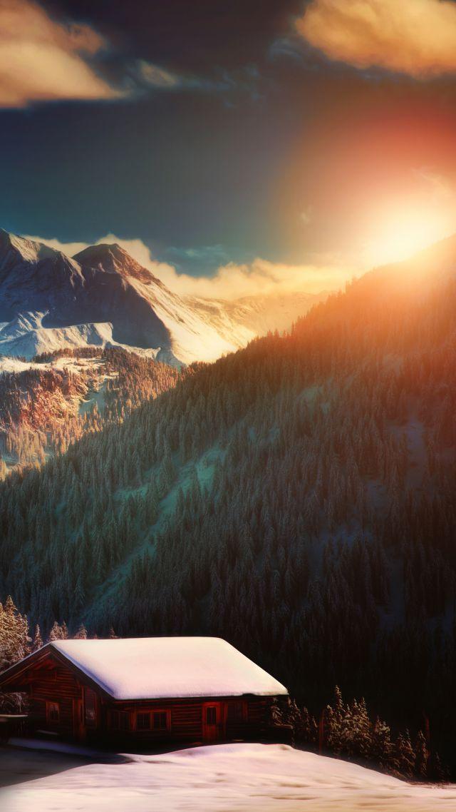 Осень альпы обои