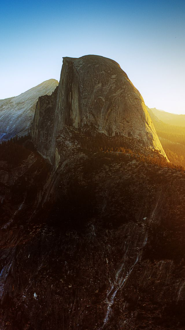 Йосемити, Хаф-Доум, Калифорния, Восход, горы, Yosemite, Half Dome, California, Sunrise, mountain