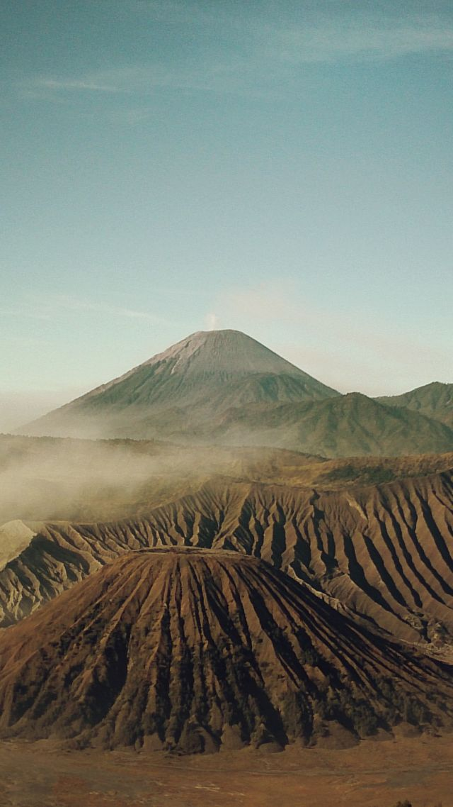 Бром, 4k, 5k, Индонезия, вулкан, песок, Bromo, 4k, 5k wallpaper, Indonesia, volcano, sand (vertical)