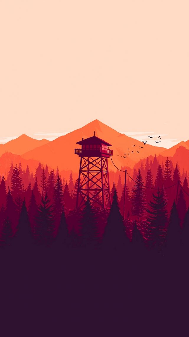 Firewatch, Лучшие игры 2015, игра, квест, хоррор, ПК, Firewatch, Best Games 2015, game, quest, horror, PC (vertical)
