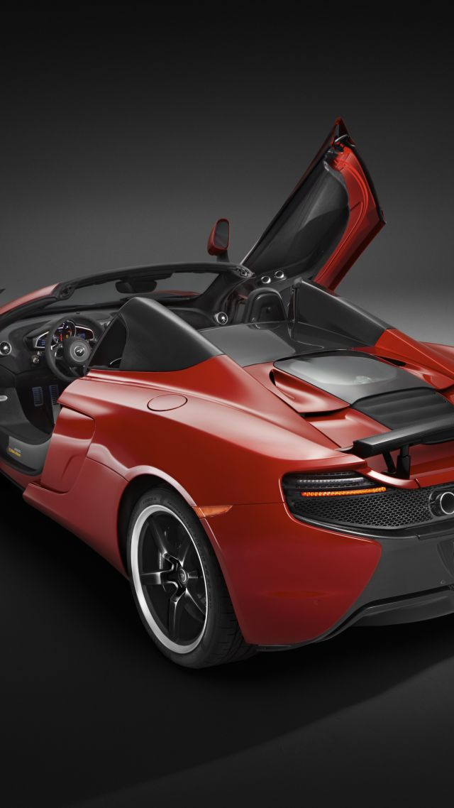 суперкар, скорость, McLaren 650S Spider, supercar, McLaren, luxury cars, спортивные машины, McLaren 650S Spider, supercar, McLaren, red, sports car, speed, test drive (vertical)