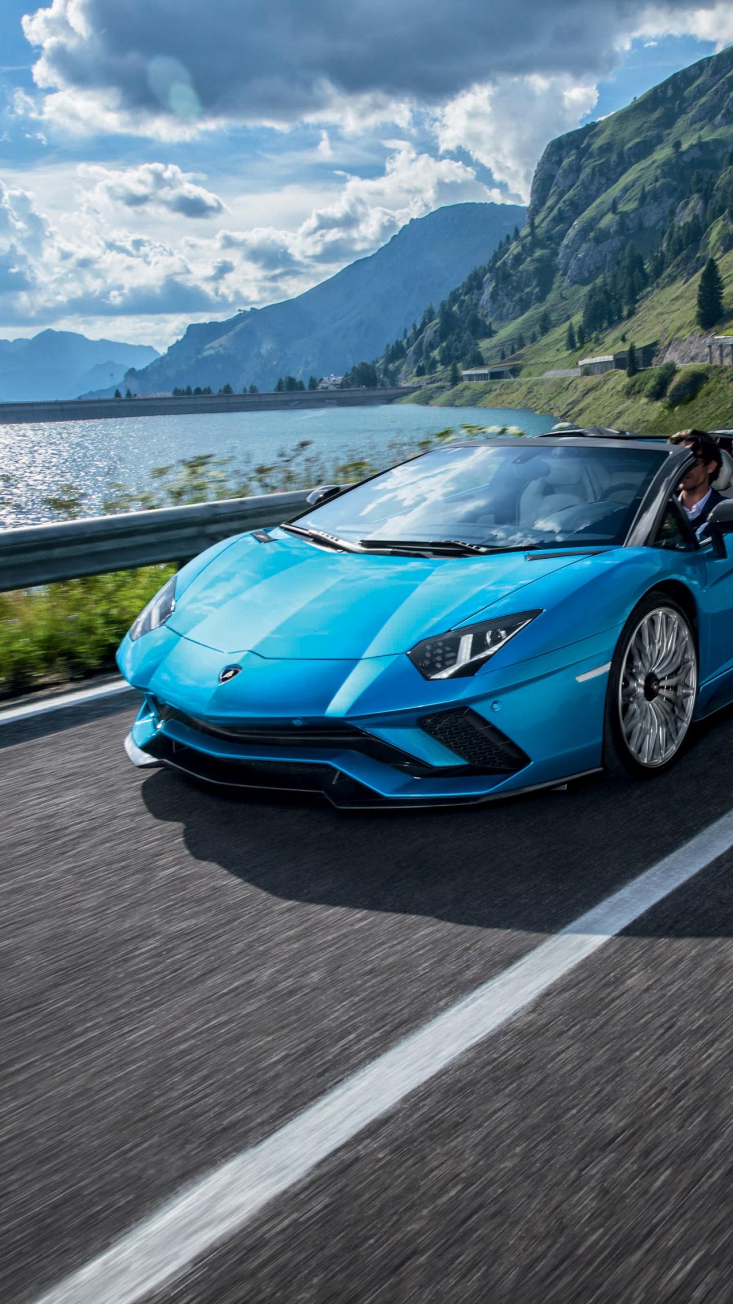 обои авентадор родстер Lamborghini Aventador S Roadster