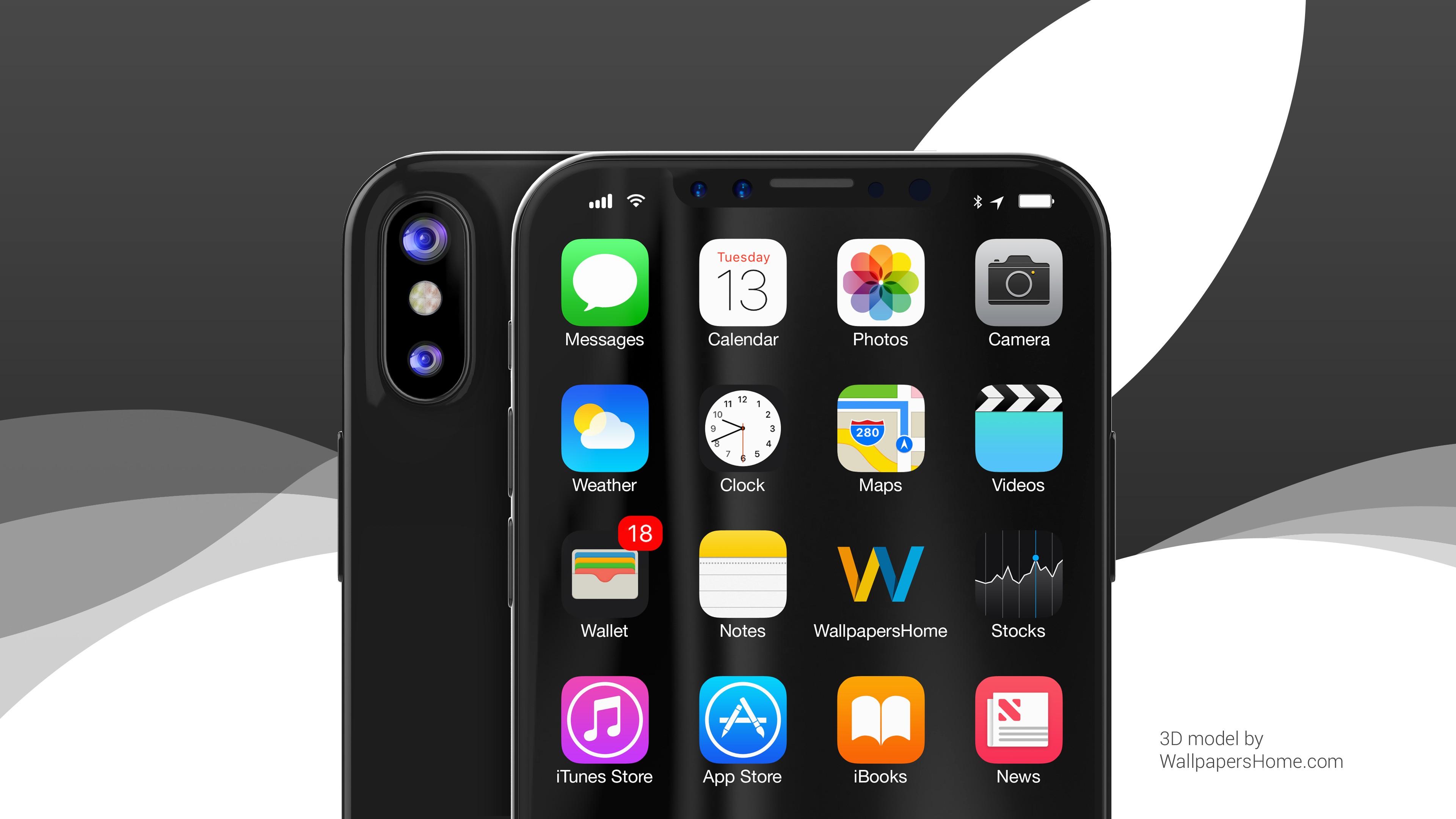 Iphone X Iphone 10 Hd Wallpapers: Обои Айфон X, IPhone X, Black, WWDC 2017, 4k, Хай-тек #15652
