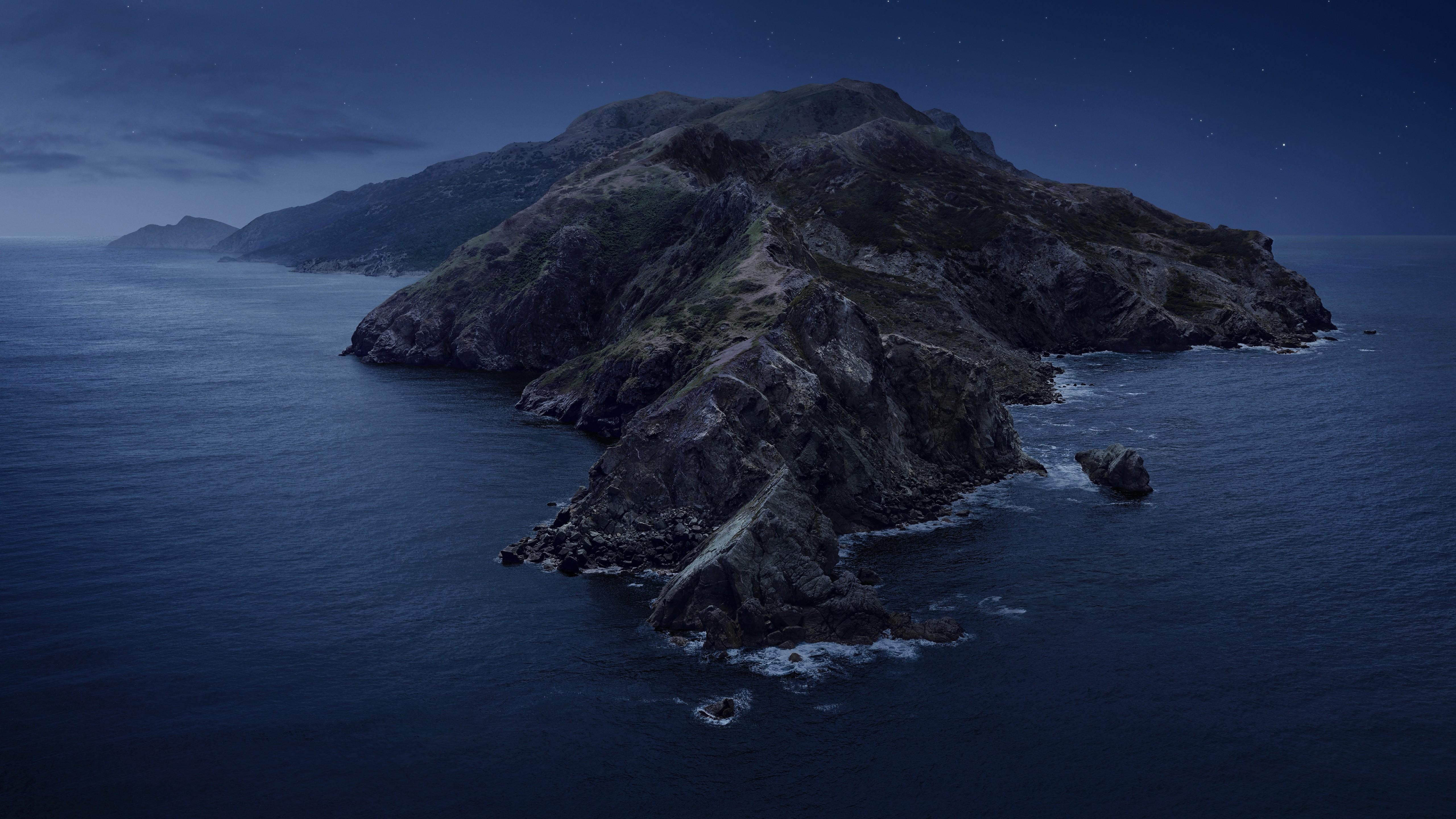 Обои горы Macos Catalina Night Mountains Wwdc 2019 5k