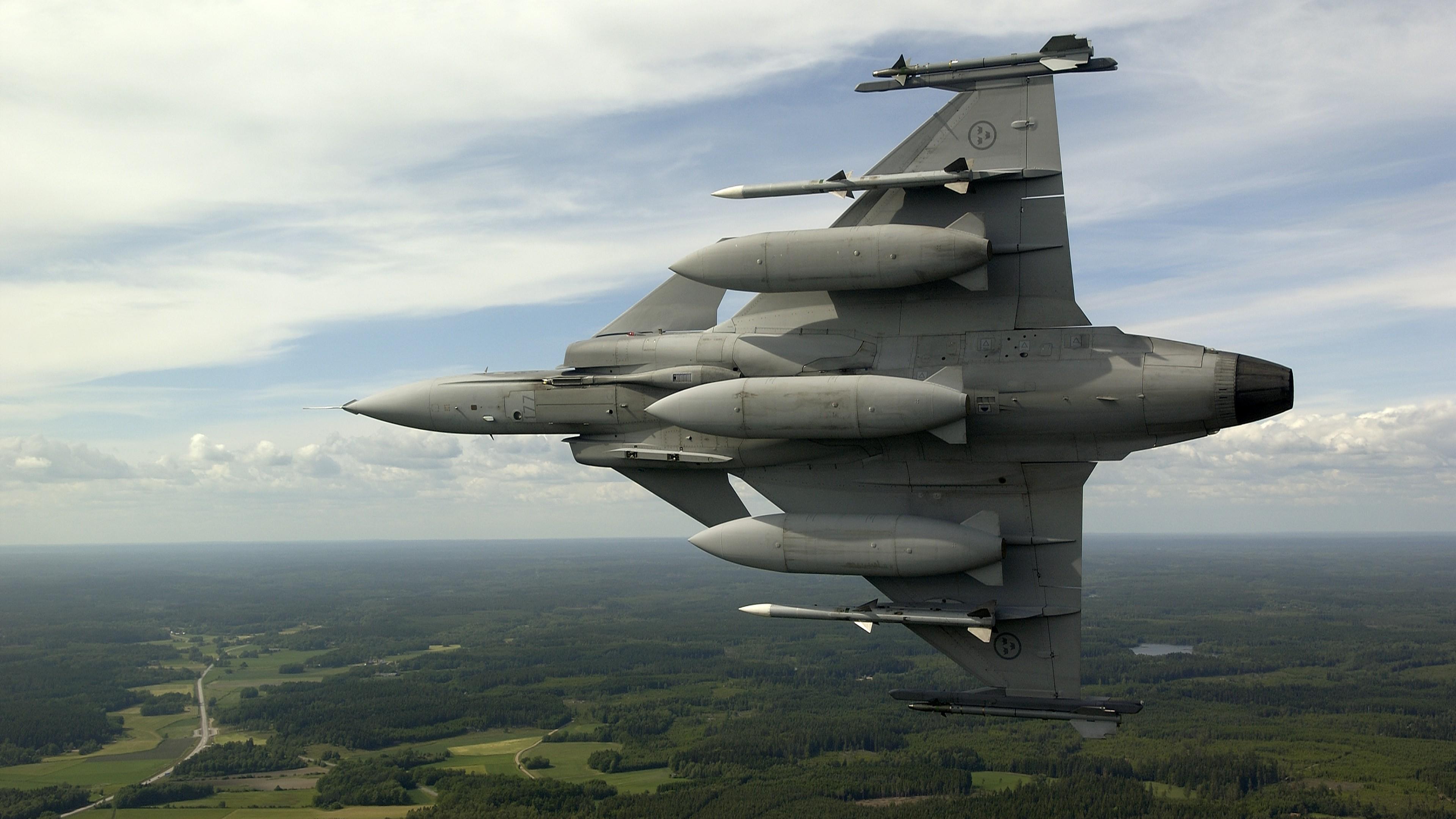 Обои истребитель, gripen, многоцелевой, Saab jas 39. Авиация foto 19