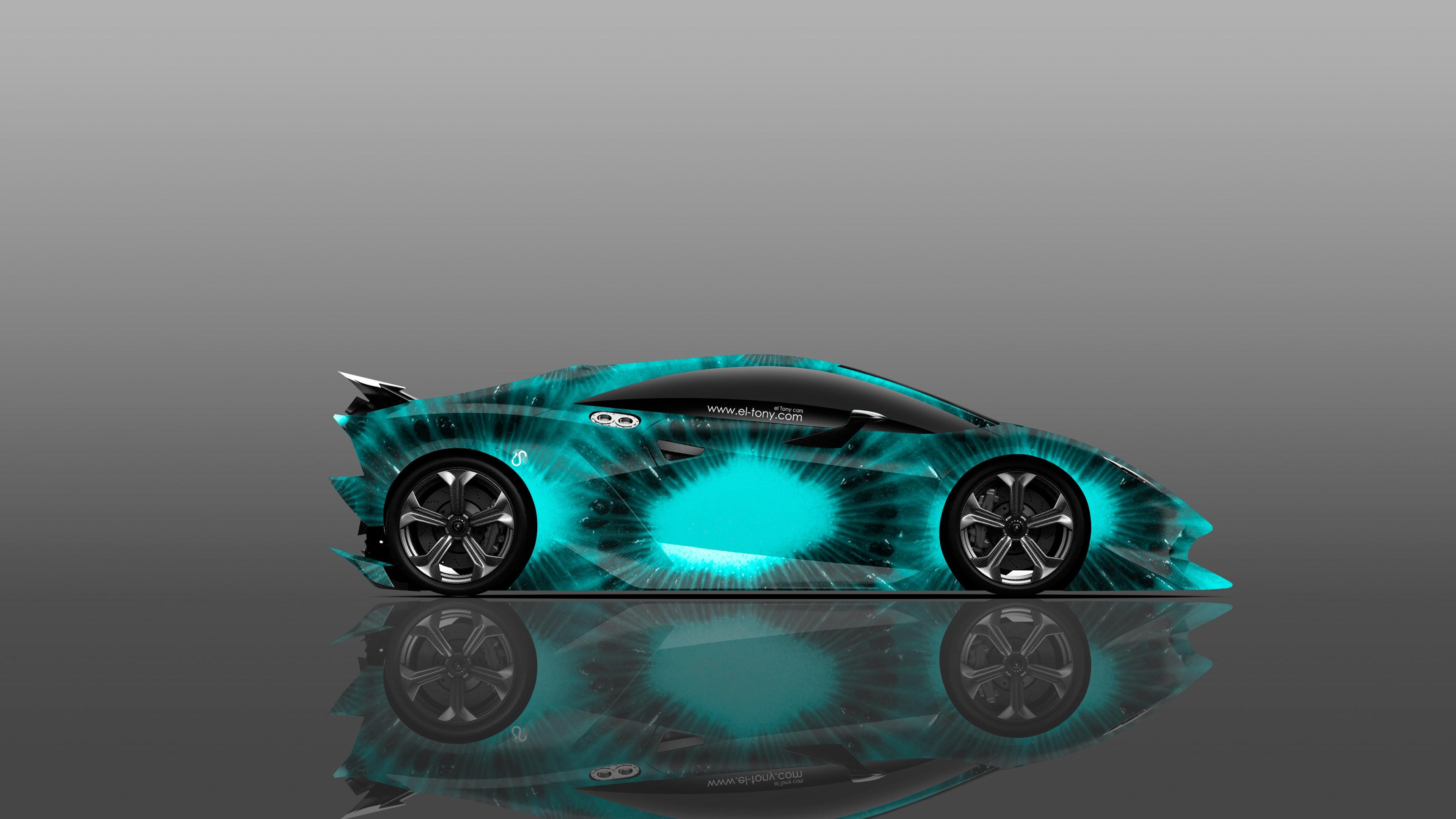 Lamborghini голубая отражение  № 2522923  скачать