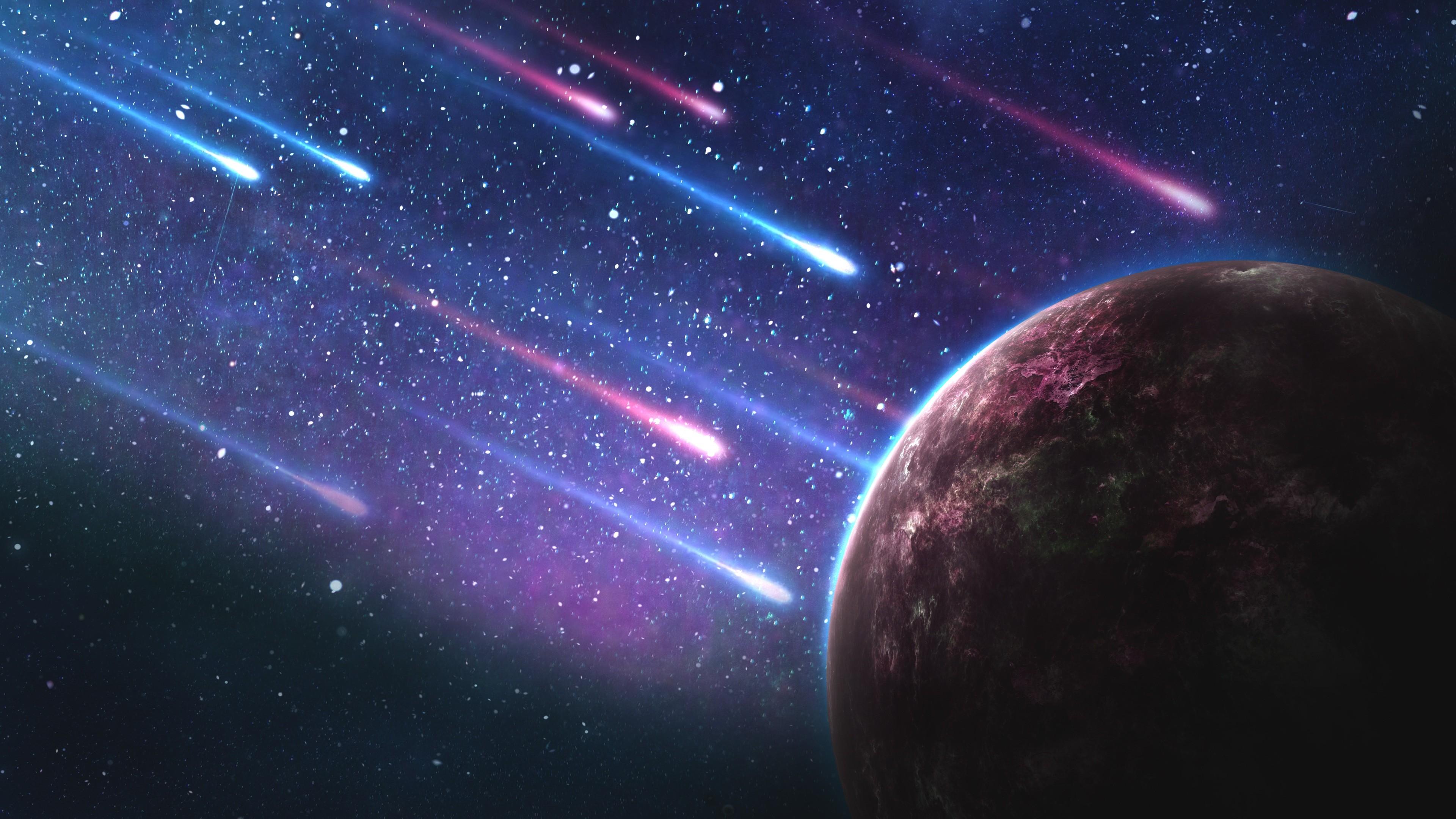 Обои Explosion, взрыв, space, Meteorite, метеорит. Космос foto 15
