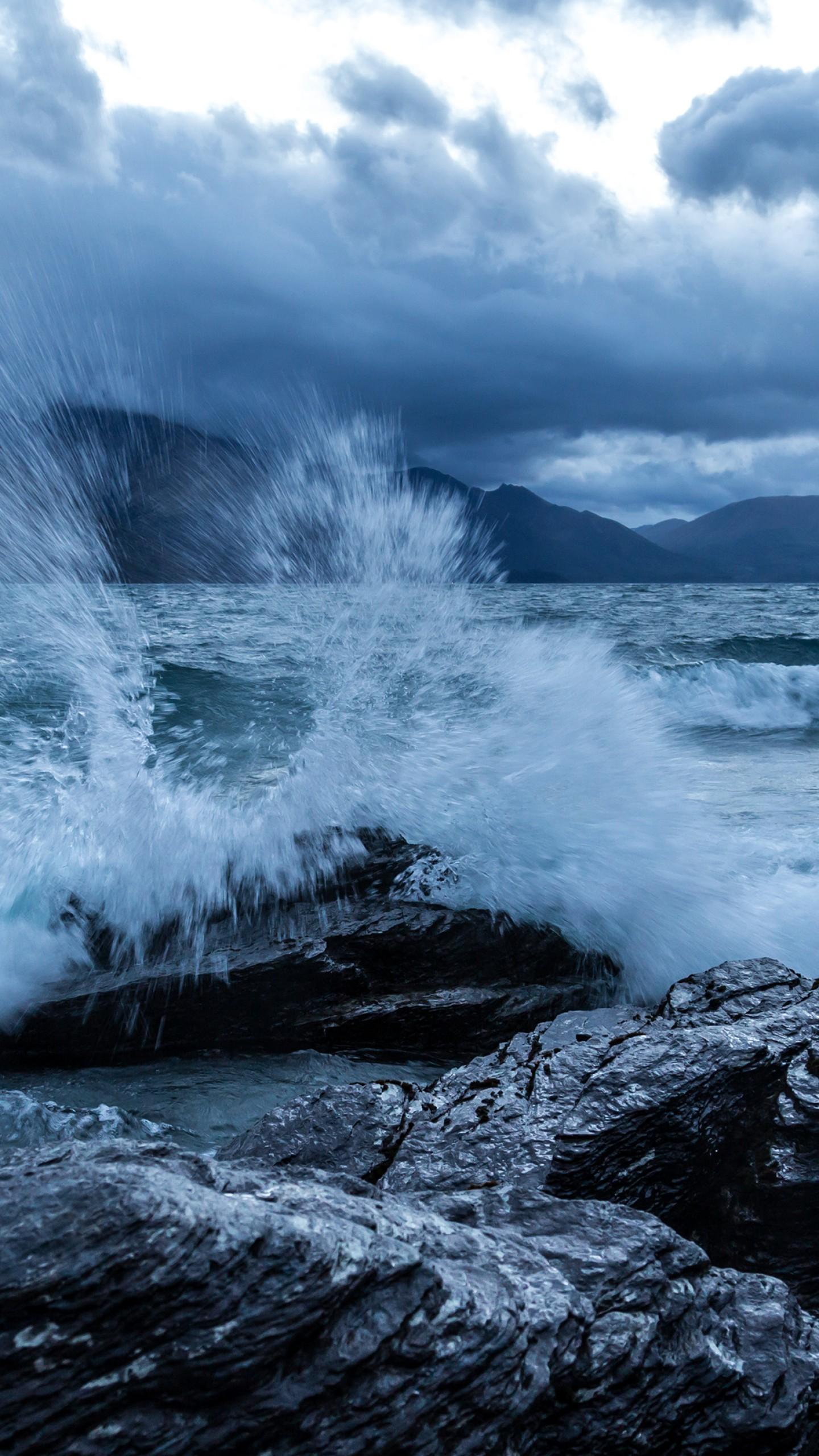 Обои отлив, лучи, тучи, скалы. Природа foto 7